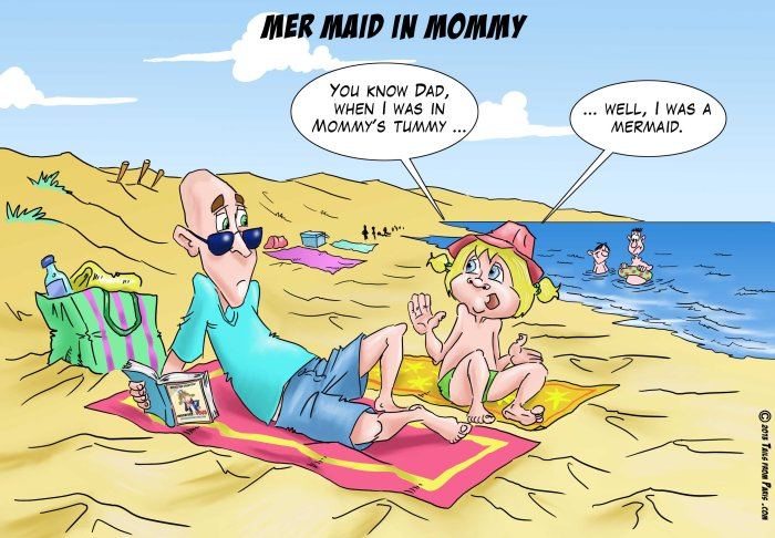 mer maid in mommy