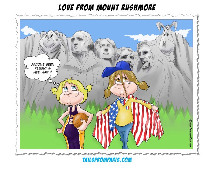 carte postale mont rushmore version US