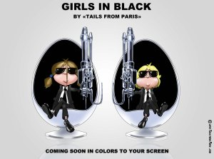girls in black tails from paris english version