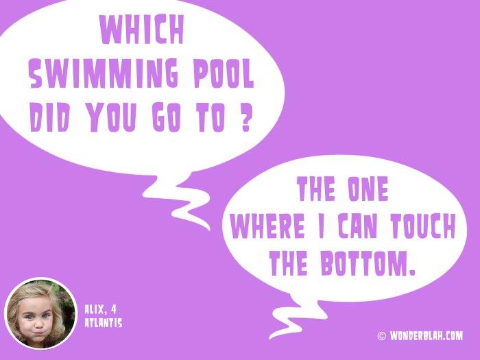 swimming cool